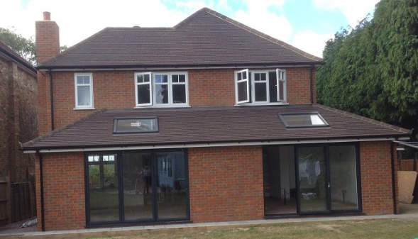 Beautiful contemporary extension to detached house in Beaconsfield
